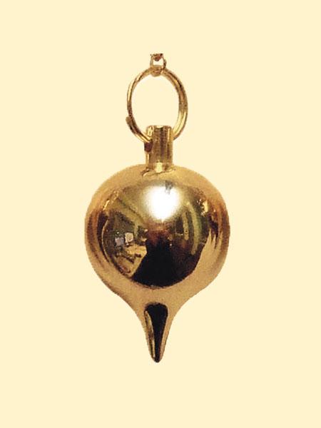Pendel Spherical Deluxe goudkleurig, rond
