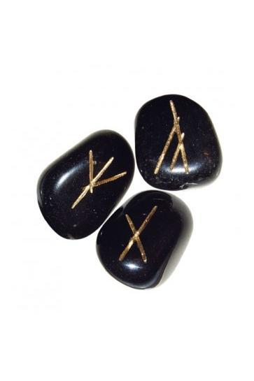 Runensteentjes van Zwart Agaat