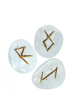 Runensteentjes van Bergkristal