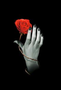 Notitieboekje Rose Hand (liefdevolle handreiking met roos)