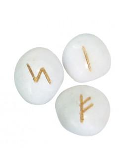 Runensteentjes van Witte Onyx