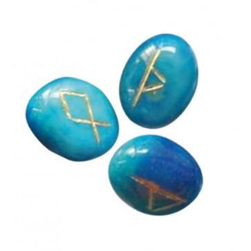 Runensteentjes van Blauwe Onyx